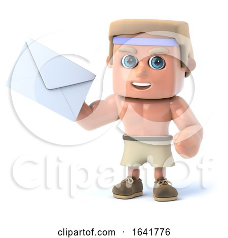 3d Bodybuilder Has Mail by Steve Young