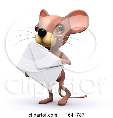 3d Mouse Has Mail by Steve Young