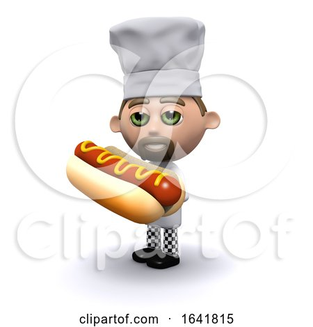 3d Chef Has a Hot Dog by Steve Young