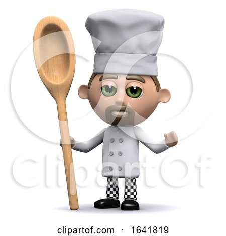 3d Chef with a Wooden Spoon by Steve Young