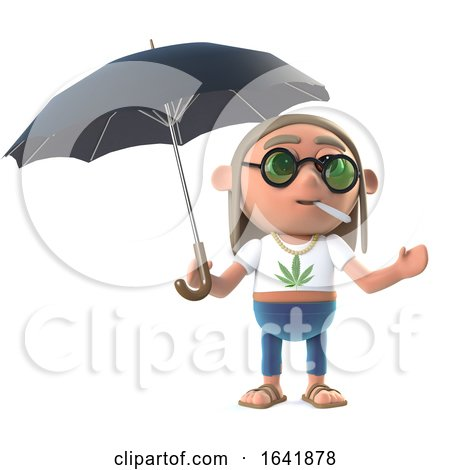 3d Hippie Stoner Has an Umbrella by Steve Young