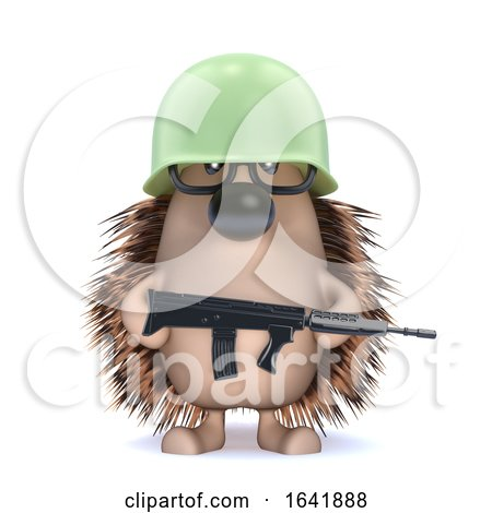 3d Armed Hedgehog by Steve Young