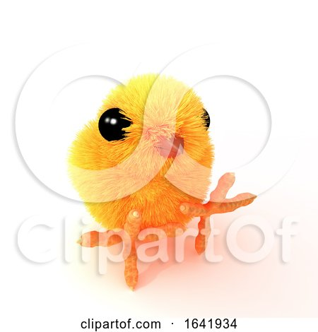 3d Easter Chick Sitting Posters, Art Prints