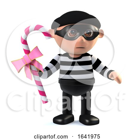 3d Burglar Steals Candy by Steve Young