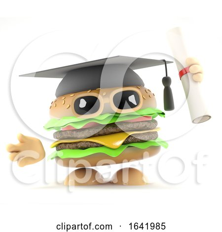 3d Graduate Burger by Steve Young