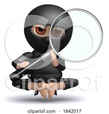 3d Ninja Observes by Steve Young