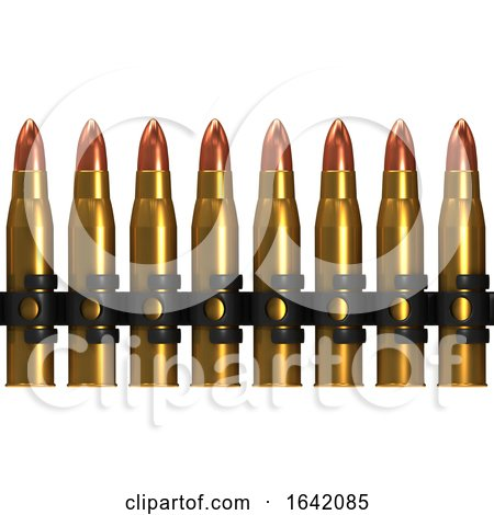 3d Row of Machine Gun Bullets by Steve Young