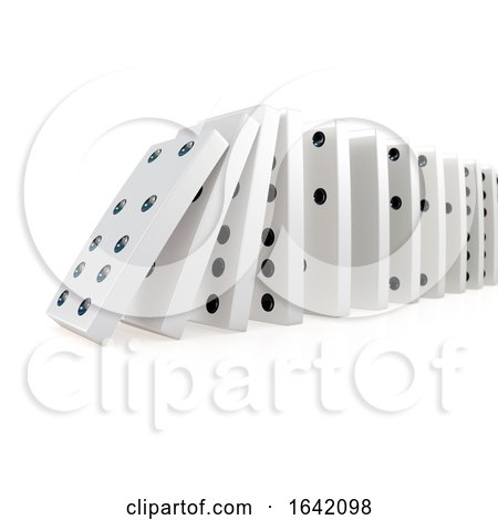 3d Collapsing Chain of Dominoes by Steve Young