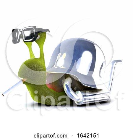 3d Snail Biker Smoking by Steve Young