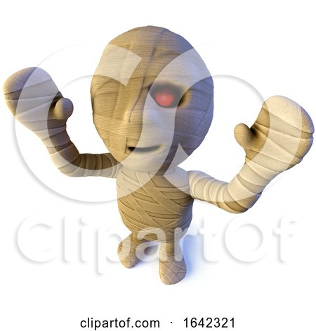 3d Egyptian Mummy Monster Character Waving Its Arms in the Air by Steve Young
