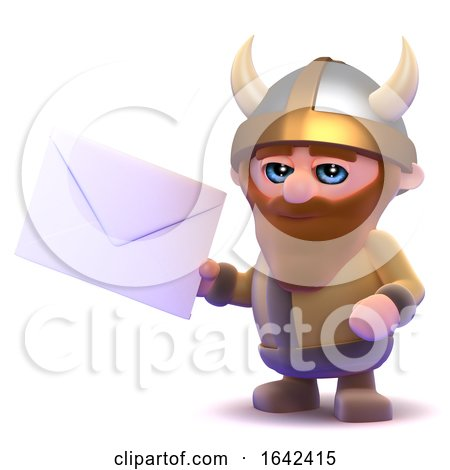 3d Viking Gets Mail by Steve Young