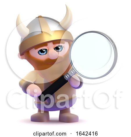 3d Magnifying Viking by Steve Young