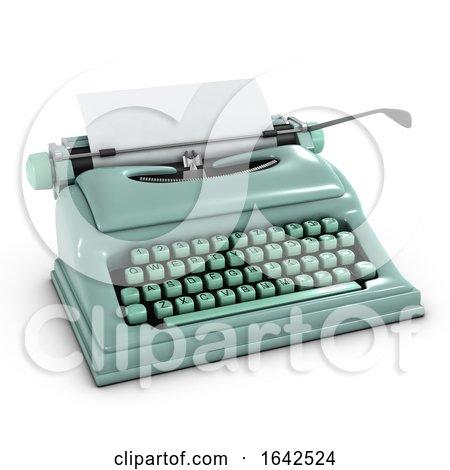 3d Old Typewriter Posters, Art Prints