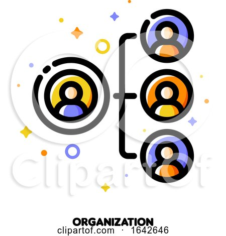 company organizational structure icon for human resources management or business hierarchy concept by elena 1642646 hierarchy concept by elena 1642646