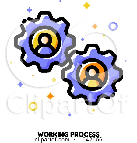 Working Process Icon for Human Resources Management Concept by elena