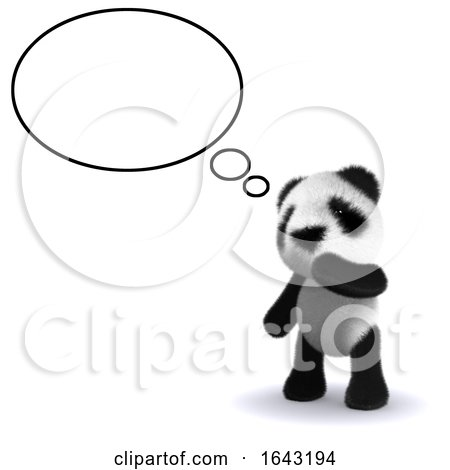 3d Panda Thinks by Steve Young