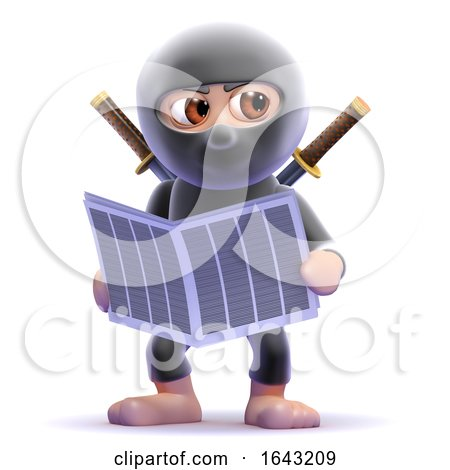 3d Ninja Reads the News by Steve Young