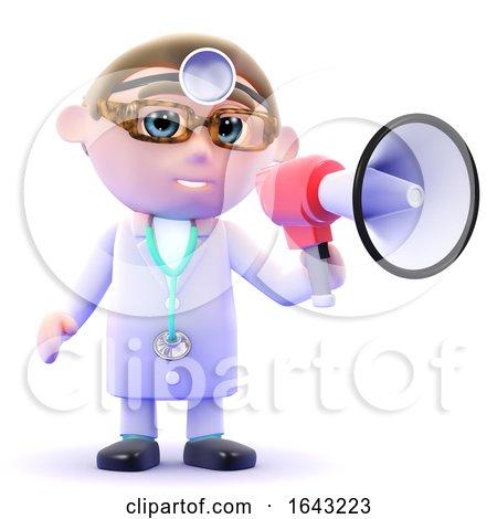3d Doctor Announces Through Loudhailer by Steve Young