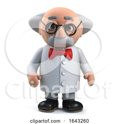 3d Mad Scientist Professor Character by Steve Young