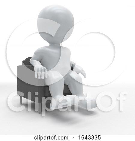 3D Morph Man Relaxing in Armchair by KJ Pargeter