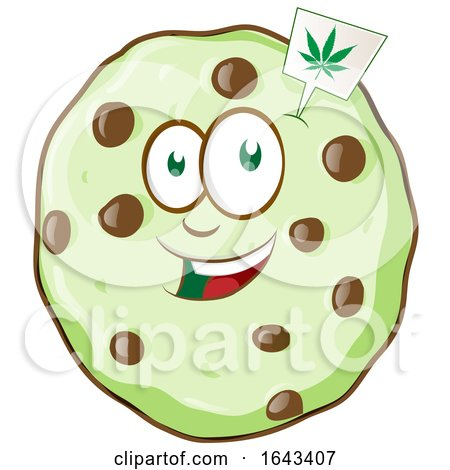 Cartoon Cannabis Cookie Character by Domenico Condello