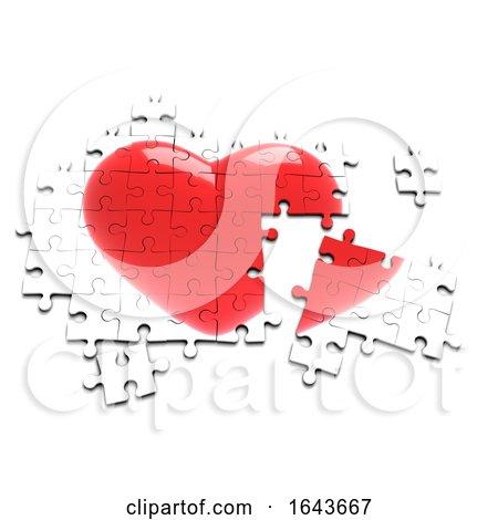 3d Heart Jigsaw Puzzle Posters, Art Prints