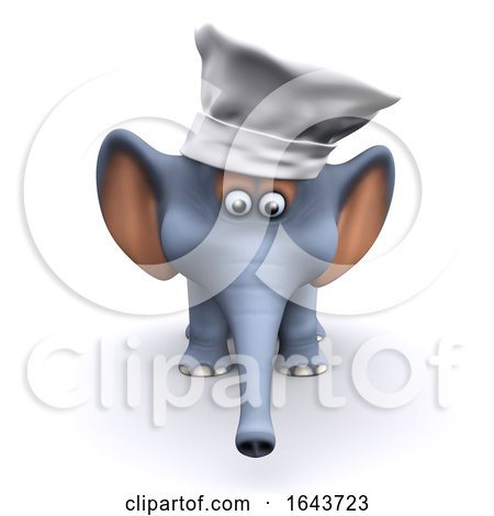 3d Chef Elephant by Steve Young