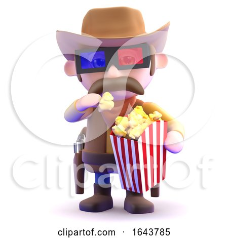 3d Cowboy at the Movies by Steve Young