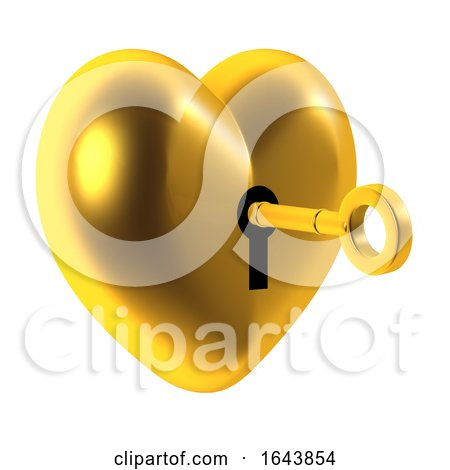 3d Unlock the Heart of Gold Posters, Art Prints