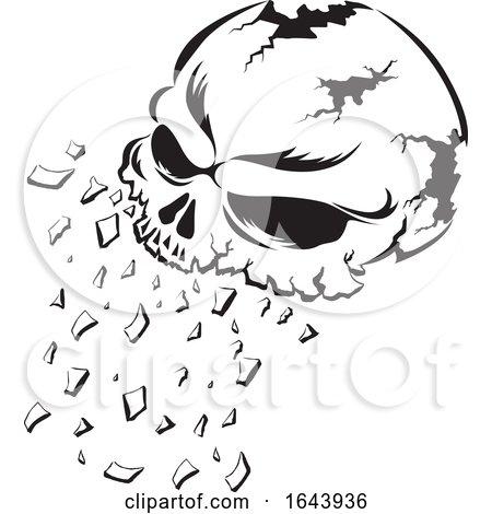 Black and White Human Skull Tattoo Design Posters, Art Prints