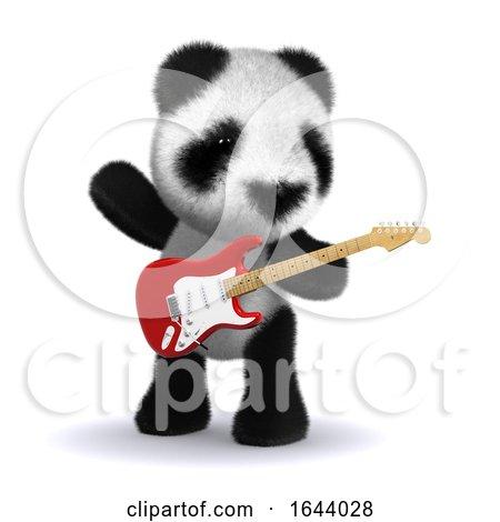 3d Panda Guitarist by Steve Young