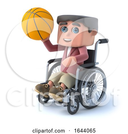 3d Boy in Wheelchair Plays Basketball by Steve Young