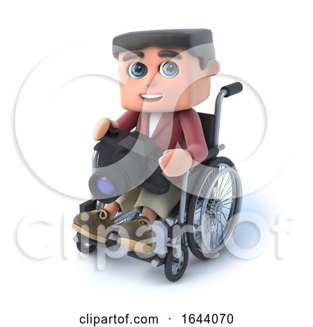 3d Boy in Wheelchair with Camera by Steve Young