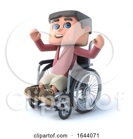 3d Boy in Wheelchair Raises a Cheer by Steve Young