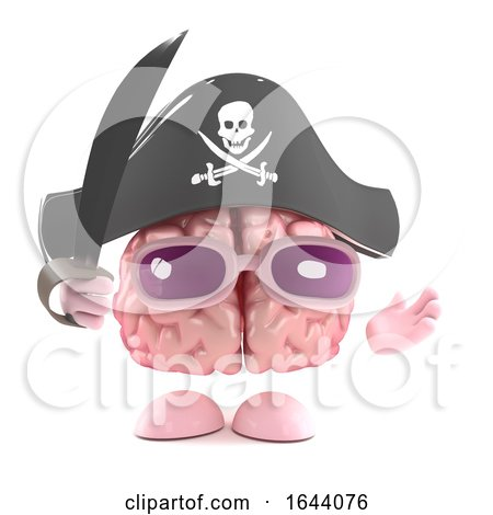3d Brain Pirate by Steve Young