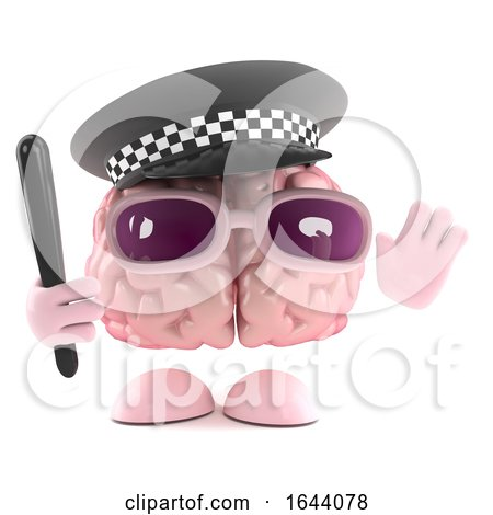 3d Police Officer Brain by Steve Young
