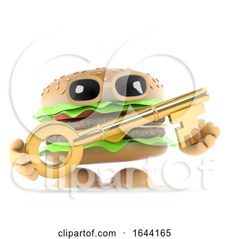 3d Beefburger Has a Gold Key by Steve Young