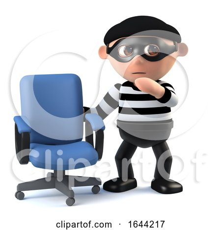 3d Burglar Finds an Empty Office Chair by Steve Young
