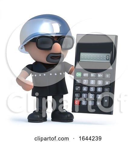 3d Biker Has a Calculator by Steve Young