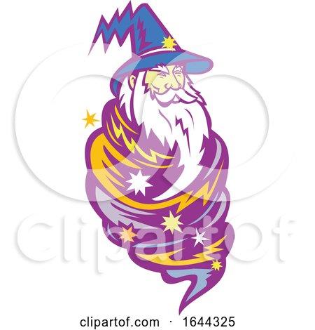 Wizard Tornado Mascot Posters, Art Prints