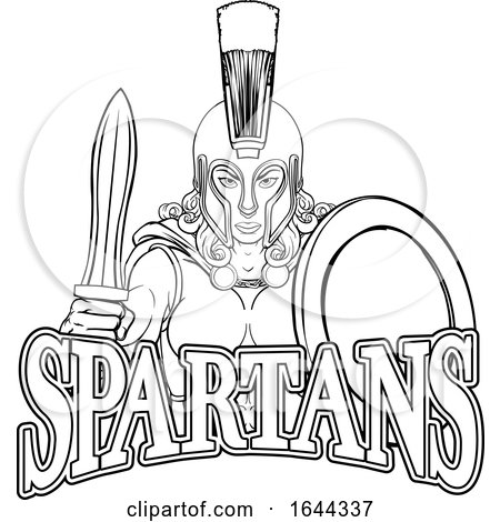 Spartan Trojan Female Warrior Gladiator Woman by AtStockIllustration