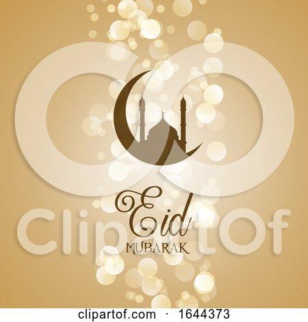 Decorative Eid Mubarak Background by KJ Pargeter