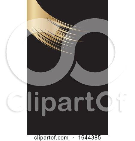 Golden Paint Stroke Business Card Design by KJ Pargeter