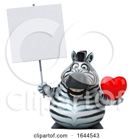3d Zebra, on a White Background Posters, Art Prints