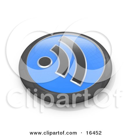 Black and Blue Blog Symbol Button Clipart Illustration Graphic by 3poD