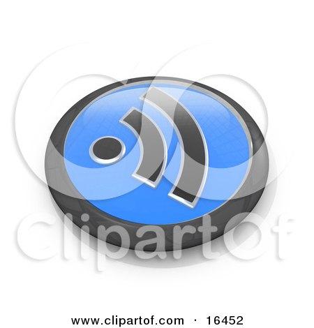 Black and Blue Blog Symbol Button  Posters, Art Prints