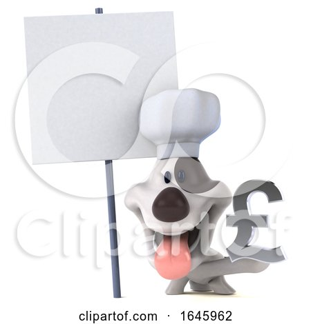 3d Chef Jack Russell Terrier Dog, on a White Background by Julos
