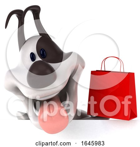 3d Jack Russell Terrier Dog, on a White Background by Julos