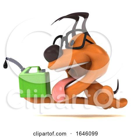 3d Orange Dog, on a White Background by Julos