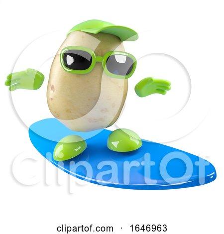 3d Potato Surfer by Steve Young